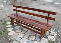 Скамейка садовая из дерева со спинкой