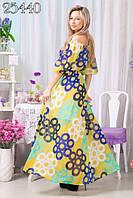 Стильное молодежное платье сарафан в пол цветные круги ВХ6054