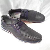 Стильные летние мужские туфли Cevivo из натуральной кожи