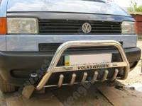 Защита бампера Volkswagen Caravelle, с грилем и надписью