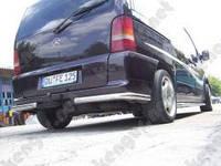 Защита заднего бампера Mercedes-Benz Vito, углы