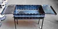 Мангал стационарный (9 шампуров) с двумя подставками, толщина 3мм, ножки съемные