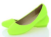 Женские балетки Neon green