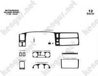 Накладка на приборную панель  Mitsubishi Pajero Sport