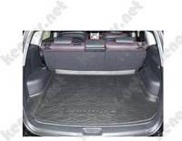 Коврик резиновый в багажник Hyundai Santa Fe (черный)