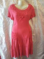 Красивое нарядное коралловое летнее платье