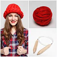 Набор для вязания из толстой пряжи (Шапка)