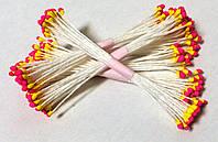 Тычинки для цветов желто-розовые круглые 25 шт (код 04918)