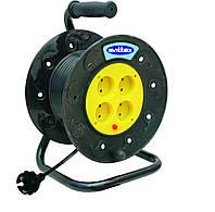 Удлинитель SVITTEX на катушке 30 м на 4 гнезда с сечением провода 2х1,5 мм², код SV-019