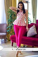 Женский летний костюм блуза и брюки