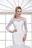 Феерическое свадебное платье русалка с пышным хвостом