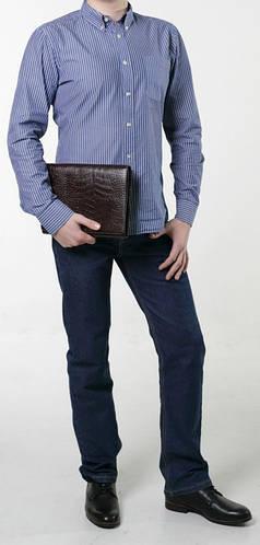 Оригинальный мужской клатч, барсетка из натуральной кожи ISSA HARA CL1 (21-00)