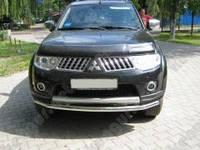 Защитная дуга бампера Mitsubishi Pajero Sport, прямой ус