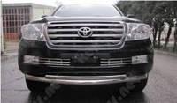 Защитная дуга бампера Toyota Land Cruiser, двойной ус