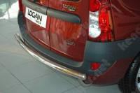 Дуга заднего бампера для Dacia Logan, прямой ус