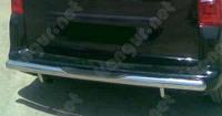 Защитная дуга бампера (заднего) для Fiat Scudo, прямой ус