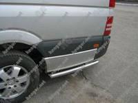 Защита порогов Volkswagen Crafter, продолжение порогов