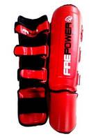 Щитки для ног FirePower FPSG5 Max Pro-L (кожа) для Муай Тай. Размер XL