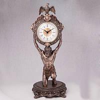 """Оригинальные настольные часы """"Атлант"""" 38 см подарок руководителю"""