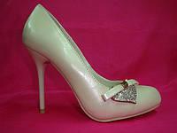 Свадебные туфли айвори шпилька
