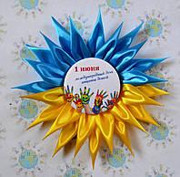 Значки на день защиты детей с розеткой Украина