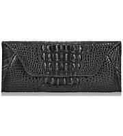 Женский кожаный кошелек конверт 6801-2 черный