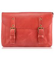 Кожаная сумка Postino красная
