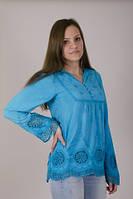 Качественная блуза с кружевами в расцветках, фото 1