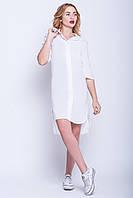 """Модное платье-рубашка """"Катя"""" белый"""