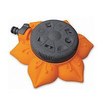 Разбрызгиватель для полива газона «Подсолнух» 8111, 8 режимов, диаметр орошения 14 м, оранжевый
