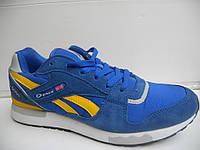 Мужские кроссовки Demax голубой сетка летние 7 км 1489|01128