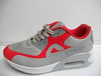 Стильные женские кроссовки летние Air Max серые беговые сетка 1489|01158