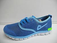 Женские кроссовки летние Demax повседневные синие для бега сетка недорого 7 км 1489 01162