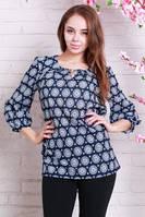 Нарядная шифоновая женская блуза больших размеров