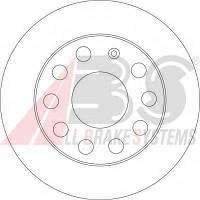 ABS - Тормозной диск задний Audi (Ауди) A3 1.6 эластичное топливо 2011 - 2013 (17520)