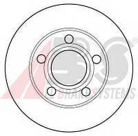 ABS - Тормозной диск задний Volkswagen Passat (Фольксваген Пассат) 1.8 бензин 1996 - 2005 (16099)