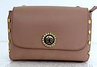 Стильная маленькая женская сумочка - клатч. 100% натуральная кожа! Италия Бежевый
