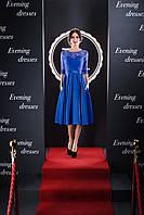Превосходное гипюровое вечернее платье ниже колен