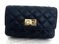 Брендовая женская сумочка - клатч. 100% натуральная кожа! Италия Синяя