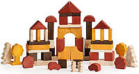 Конструктор детский деревянный 55 деталей