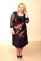 Женское платье батальный размер Адель 58-68