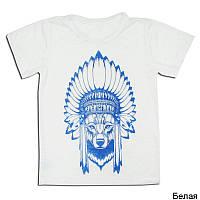 """Детская футболка для мальчика с принтом """"ВОЛК"""""""