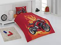 Постельное белье для подростков Motokross красное, полуторное