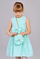 Мятное платье с сумочкой