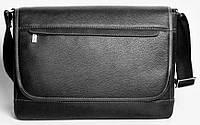 Кожанная сумка Месенджер через плечо ISSA HARA BM5 (11-31) черный