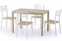 Стол обеденный деревянный AVANT дуб сонома Halmar + 4 стула Halmar