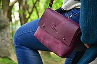 """Женская кожаная сумка клатч бордовая """"Jenny"""" на гвоздике жіноча шкіряна сумка"""