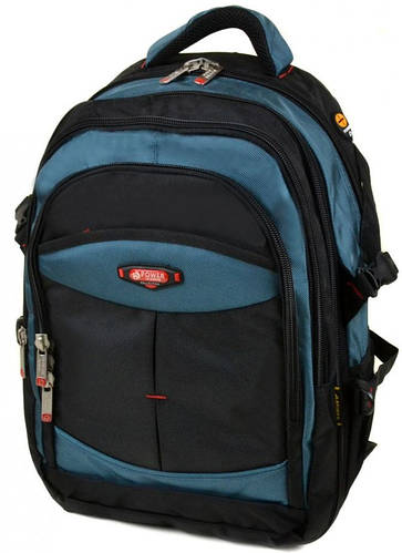 Отличный городской рюкзак из нейлона 42 л. Power In Eavas 9718 light-blue, синий