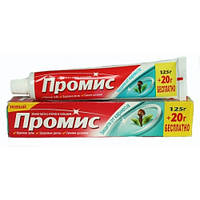 Зубная паста с фтором и кальцием ПРОМИС защита от кариеса, Дабур, 125+20 г