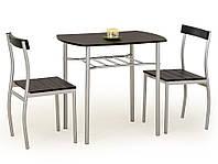Стол обеденный деревянный LANCE венге Halmar + 2 стула Halmar